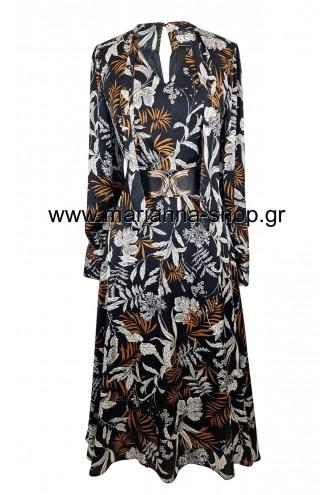 Φόρεμα εμπριμέ μιντι