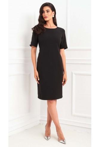 Φόρεμα μαύρο κοντομάνικο