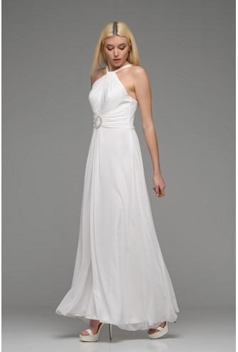 Φόρεμα μάξι λευκό