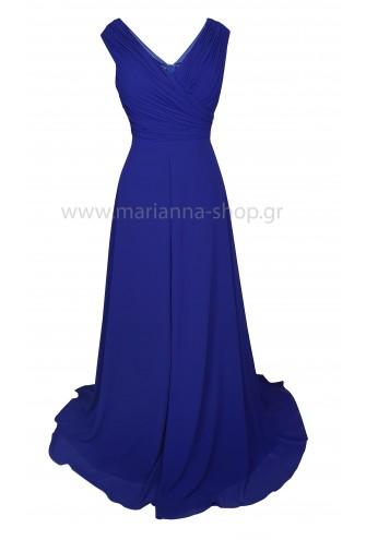 Φόρεμα μάξι μπλε ρουα
