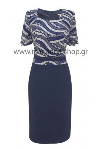 Φόρεμα μπλε κοκτέιλ