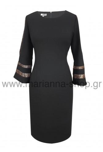 Φόρεμα κοκτειλ μαύρο