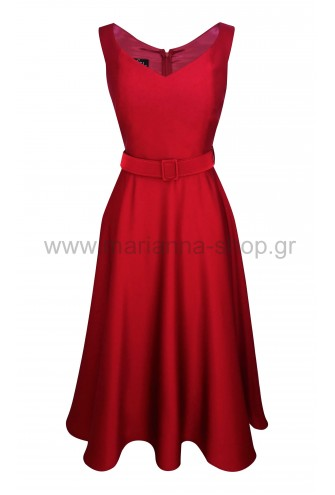 Φόρεμα κόκτειλ κλος κόκκινο