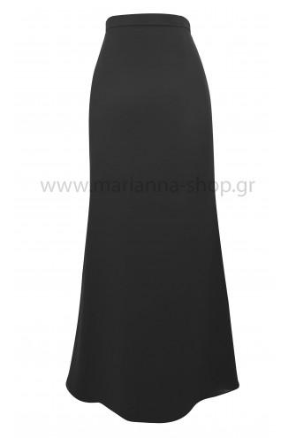 Φούστα μάξι μαύρη με ουρά