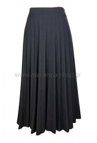 Φούστα μαύρη πλισέ