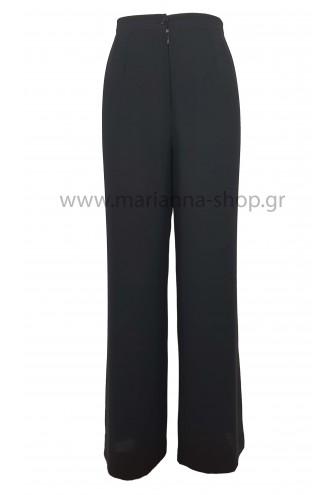 Παντελόνα ζορζέτα μαύρη