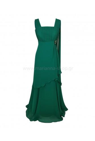 Σμαραγδί μάξι φόρεμα