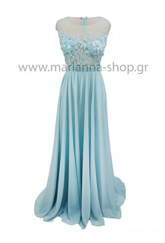 Φόρεμα γαλάζιο μάξι