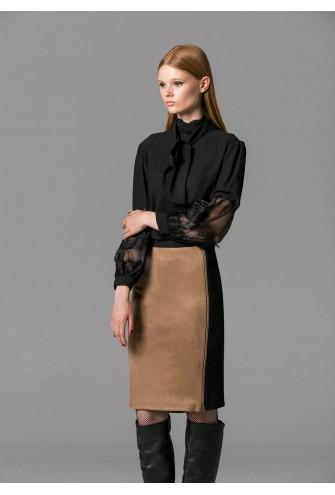 Φούστα αλκαντάρα δίχρωμη πενσιλ