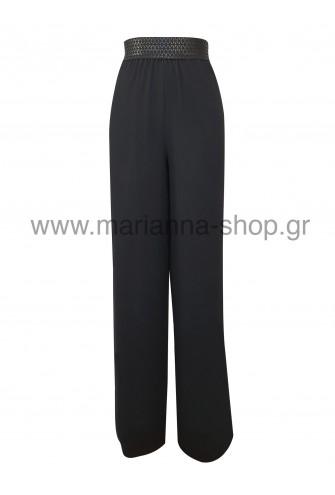 Παντελόνα μουσελίνα μαύρη